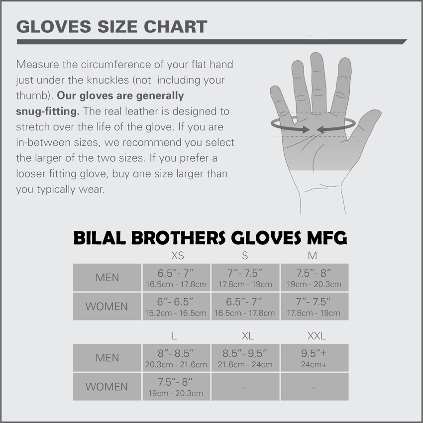 Workout Gloves Size Chart: Weight Lifting Gloves/Workout Gloves/Weight Lifting Grip MFG